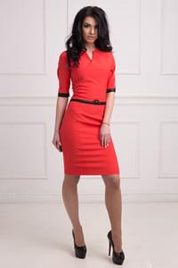 плаття, купити червону сукню, плаття в червоному кольорі, повсякденне плаття, яскраве плаття