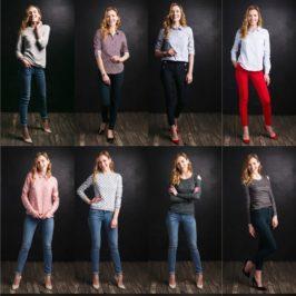 Сучасний модний жіночий одяг для міста.